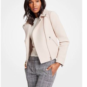 New without tags Ann Taylor cream Moth zip jacket